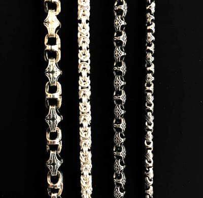 Виды плетений цепочек на заказ в ювелирной мастерской