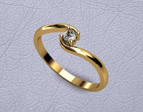 Кольцо с камнем заказное из каталога студии Golden Caster