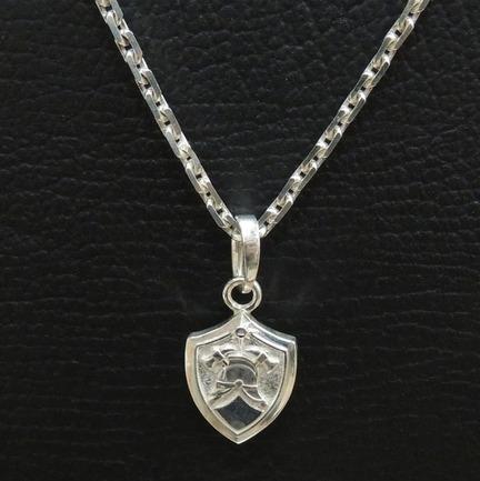 Кулон серебряный для пожарных и сотрудников МЧС