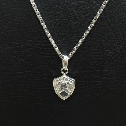 Кулон серебряный с пожарной символикой